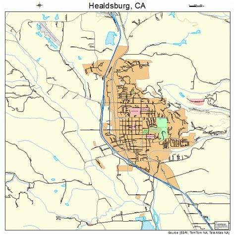healdsburg map map of downtown healdsburg ca pictures to pin on