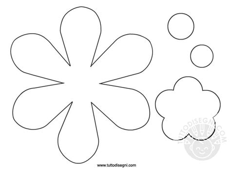 forme fiori da ritagliare sagome fiori per lavoretti bambini tuttodisegni