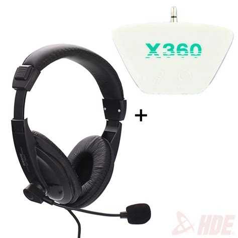 converter headset stereo gaming computer microphone headset xbox 360