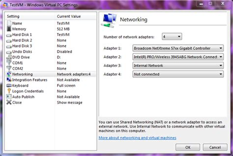 setup xp virtual host networking in windows virtual pc windows virtual pc