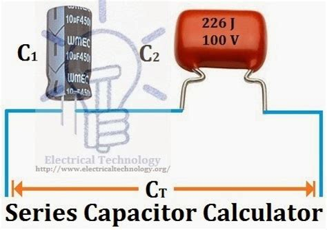 series capacitor value series capacitor calculator electrical technology