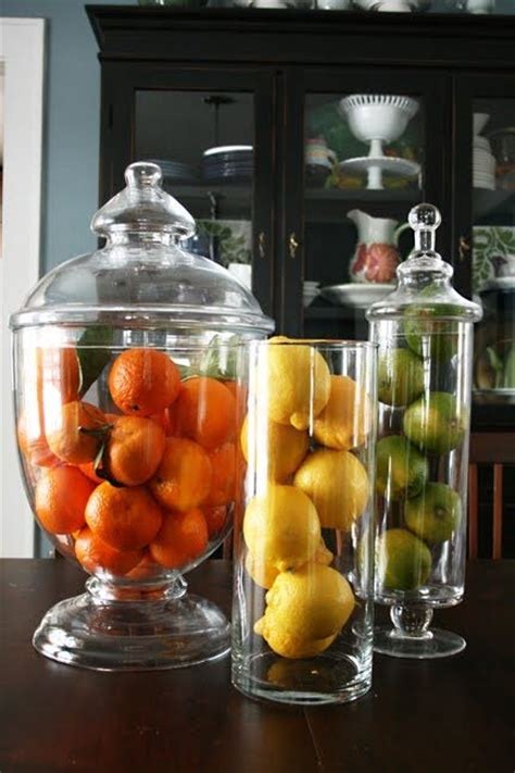 fruit home decor filling up the apothecary jar ideas and inspiration