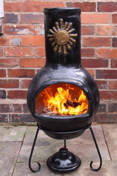 Large Clay Chiminea Outdoor Fireplace Mexican Clay Chimenea Sol Chiminea Patio Heater Bowl