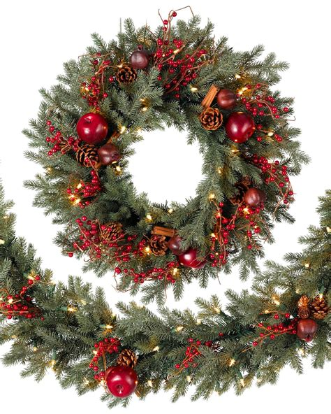 wreaths and garland heritage spice wreath and garland balsam hill