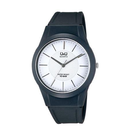 Q Q Quartz Vq55 Rubber Hitam jual q q vq50j003y jam tangan hitam harga