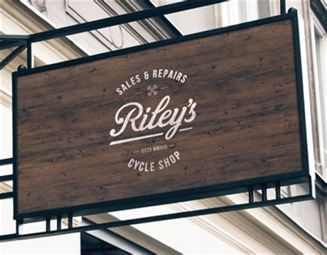 coffee shop signage design riley s cycles branding website on behance