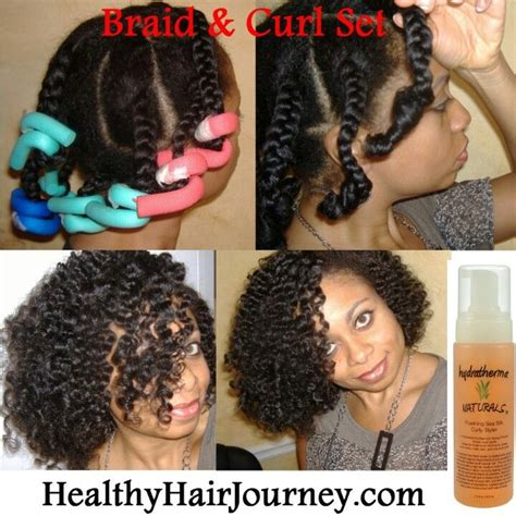 cold wave rods hair styles little miss curly gots the braid and foam rollers set