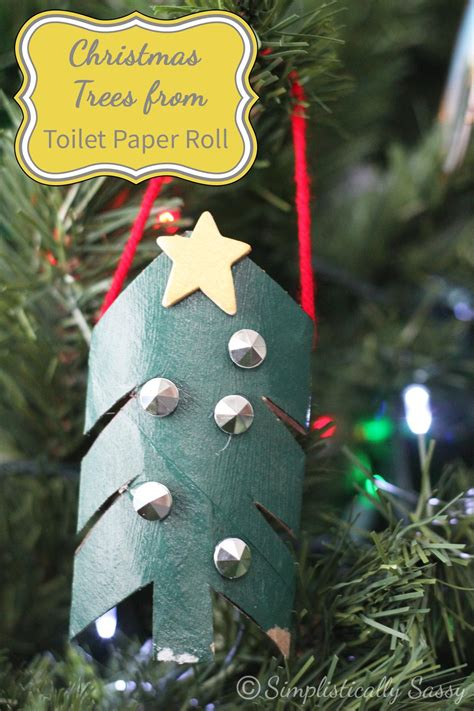 christmas tree from toilet paper roll crafts