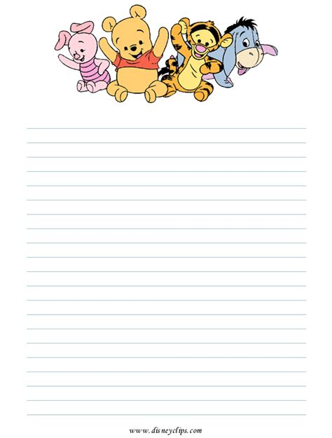 winnie the pooh writing paper printpooh10 gif 580 215 765 crafts journal pages