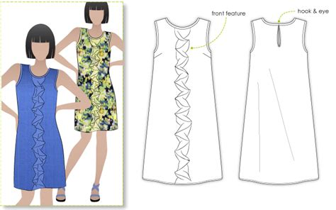 pattern shift dress vogue stylearc martine dress