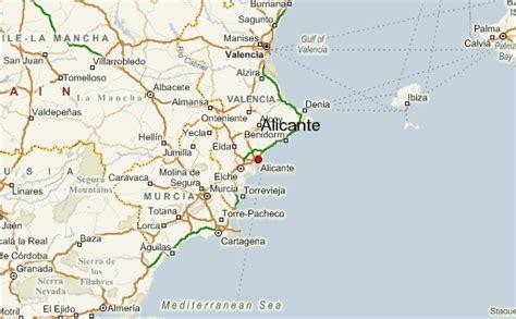 map of alicante area alicante location guide