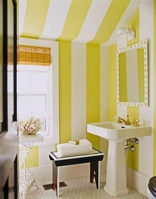 Yellow Bathroom Help Going Bold In Small Spaces Stripes Yellow Stripes And