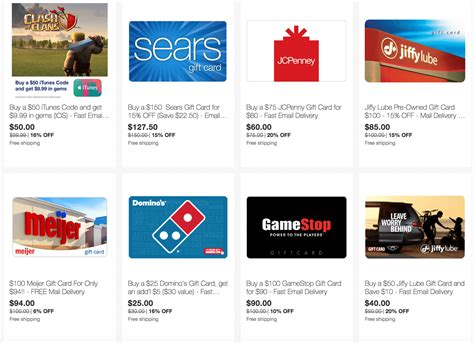 Sears E Gift Card - ebay save on gift cards for gamestop sears jcpenney