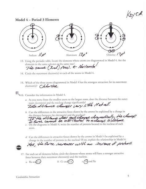 Coulombic Attraction Worksheet Answers by Mr Brueckner S Ap Chemistry Class 2013 2014 October 2013