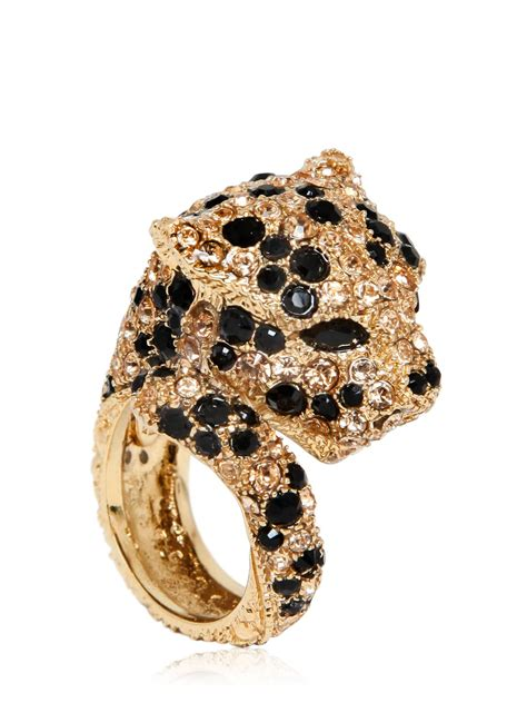 Cavalli Jewelry lyst roberto cavalli embellished panther ring for