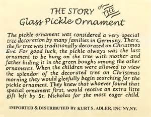 traditional german glass pickle christmas ornament
