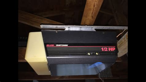 craftsman garage door opener  hp older model youtube