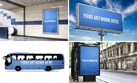 Snapback Design Vorlage Photoshop City Advertising Mockup Templates Pack Includes A Billboard Stop Ad Wrap And