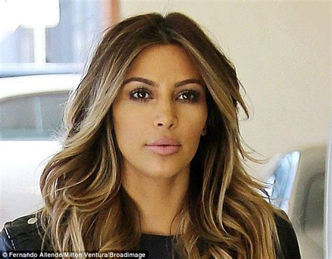 kim kardashian hair color highlights kim kardashian 33 spends 21 600 on power facial to