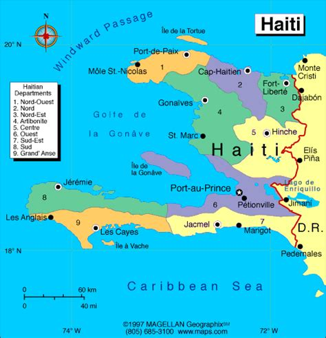 haiti map of world haiti map toursmaps