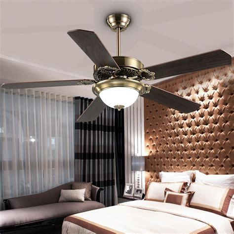 Decorative Ceiling Fans For Dining Room by 48inch Magic Iron Led Fan L European Antique Ceiling