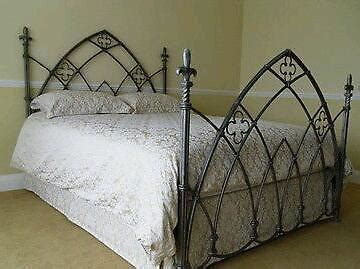 wrought iron king size bed quot and so to bed quot wrought iron gothic king size bedstead