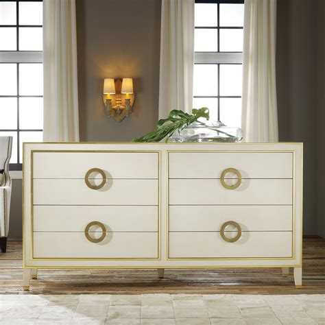 Gray Modern Bedroom - modern history home abstract dresser antique white