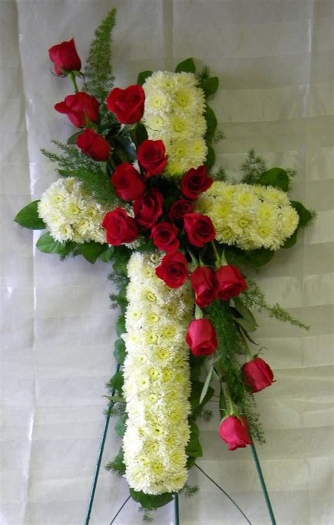 Funeral Flower Arrangements by And Honor Funeral Cross My And