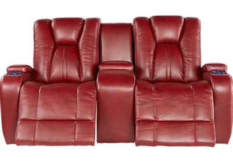 loveseat com kingvale red power reclining console loveseat loveseats