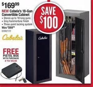 Black Friday Gun Cabinet Deals by Cabela S 18 Gun Convertible Cabinet 169 99 Black