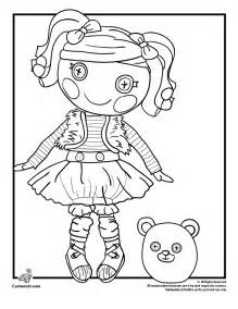 Doll Coloring Pages Mittens Fluff N Stuff Lalaloopsy  sketch template