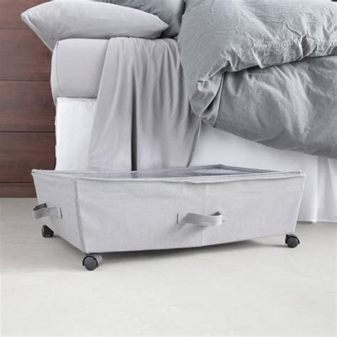 The Bed Storage On Wheels the bed storage bin on wheels dormify