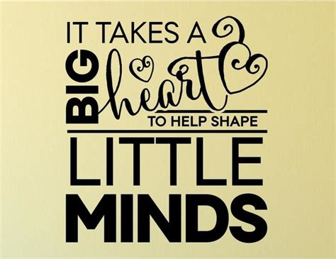 Banksy Wall Art Stickers it takes a big heart to help shape little minds wall