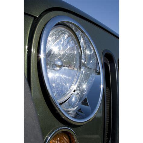 jeep wrangler headlight bezel replacement headlight bezels chrome 2007 2012 jeep