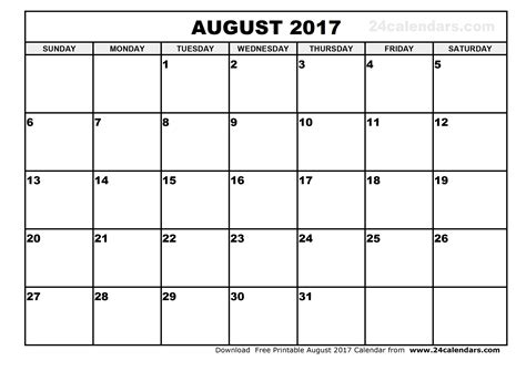 august 2017 calendar 2017 calendar with holidays