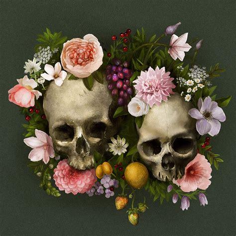 Skull And Flower skull flowers by jezebel on deviantart