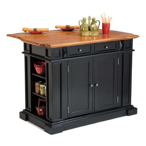 shop home styles 48 in l x 26 75 in w x 36 in h rustic shop home styles black farmhouse kitchen islands at lowes com