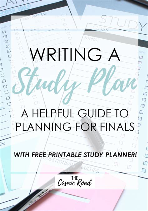 free printable exam planner writing a study plan a guide to planning for finals