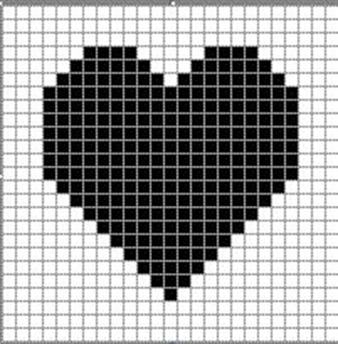 heart pattern on graph paper myhq bretay s craft links