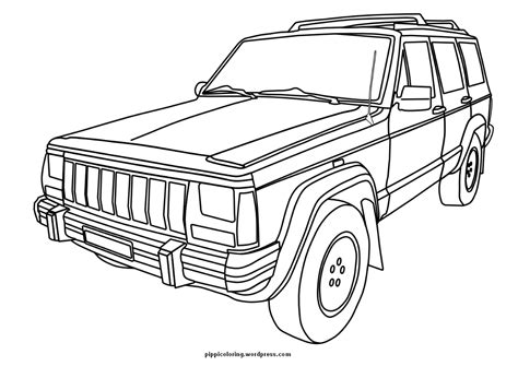 coloring pages jeep grand cherokee jeep coloring page pippi s coloring pages