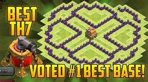 Coc best th7 hybrid base with air sweeper clash of clans town