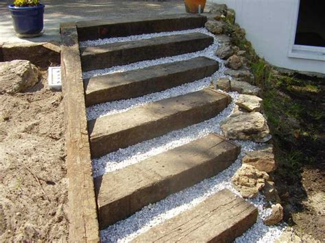 How To Build Steps With Railway Sleepers by Chris Gaebler S Project With Railway Sleepers
