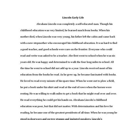 Abraham Lincoln Essay by Abraham Lincoln Essay Sle Essays High School Sle Essay With Barack Obama