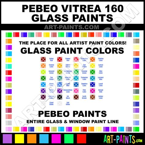 pebeo vitrea 160 glass and window paint colors stains inks stained glass pebeo vitrea 160