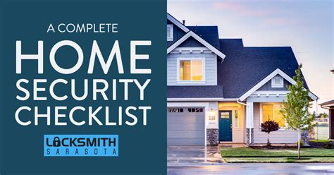 the complete security checklist your home needs