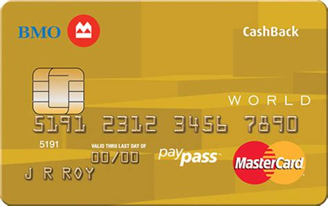Bmo Prepaid Gift Card - world mastercard earn cash back rewards bmo