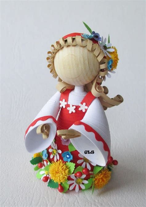quilling design doll miniature doll by gls miniatures of all kinds quilled