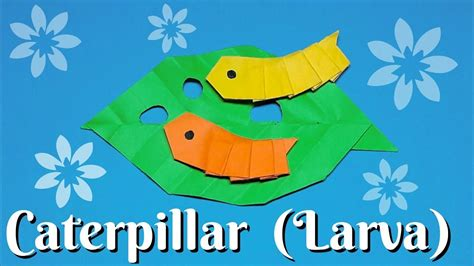 Origami Caterpillar - origami caterpillar larva easy to fold easy to follow hd