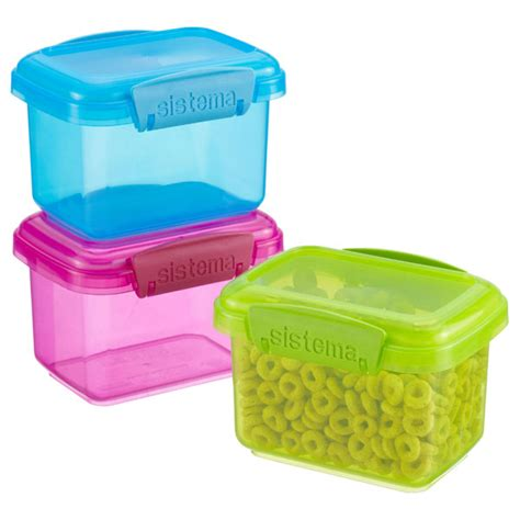 Lunch Box Klip To Keep 750 Ml Kotak Makan Bulat 750 Ml 13 5 oz colorful klip it 174 snack pack boxes the container store