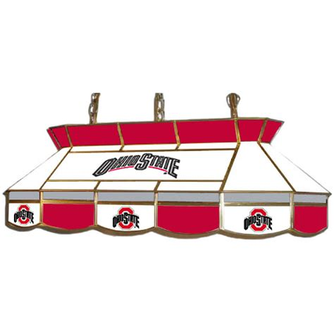 ohio state desk accessories ohio state buckeyes teardrop stained glass billiard light